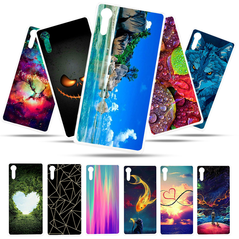 Painted Case For Sony Xperia XZ Case Silicone Soft TPU Cases For Sony XZ F8332 F8331 Cover Wildflowers Cute Animal Bags