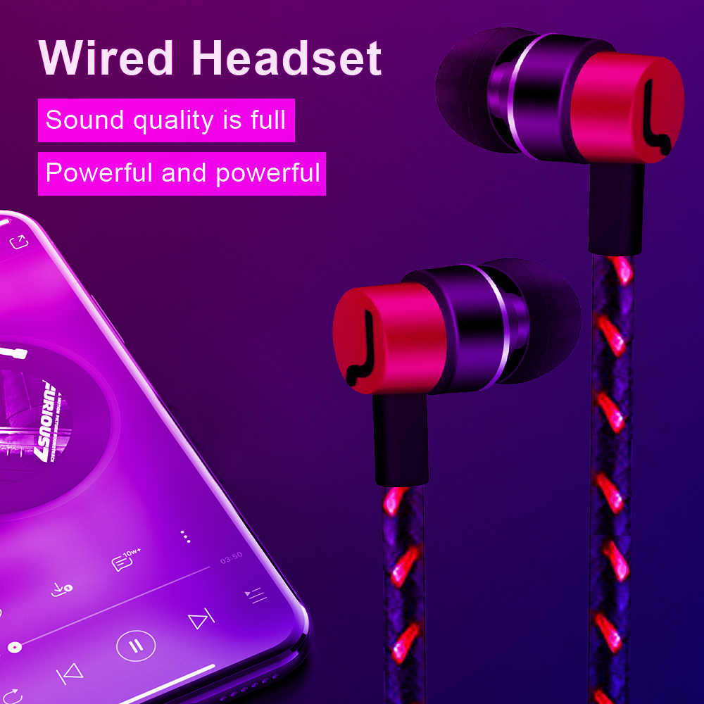 3.5 ミリメートルインイヤーイヤホン有線ヘッドセットハイファイ Mp3 音楽プレーヤースポーツ Iphone 有線耳片 xiaomi Huawei 社とマイク