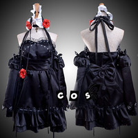 Anime Vocaloid Hatsune Miku Miku Kaito Cosplay Black Dress Cosplay Costumes For Female Carnival Halloween Custom Made Any Size