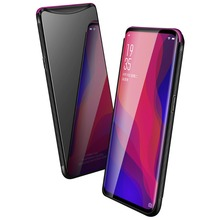 Tempered Glass Case for OPPO Find X FindX Hybrid Hard PC Soft TPU Mirror Surface Back Cover