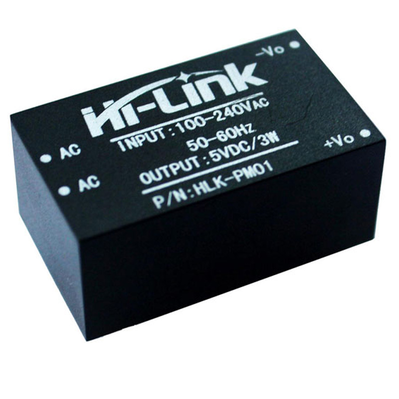 1x HLK-PM01 AC-DC 220V to 5V Step-Down Powers