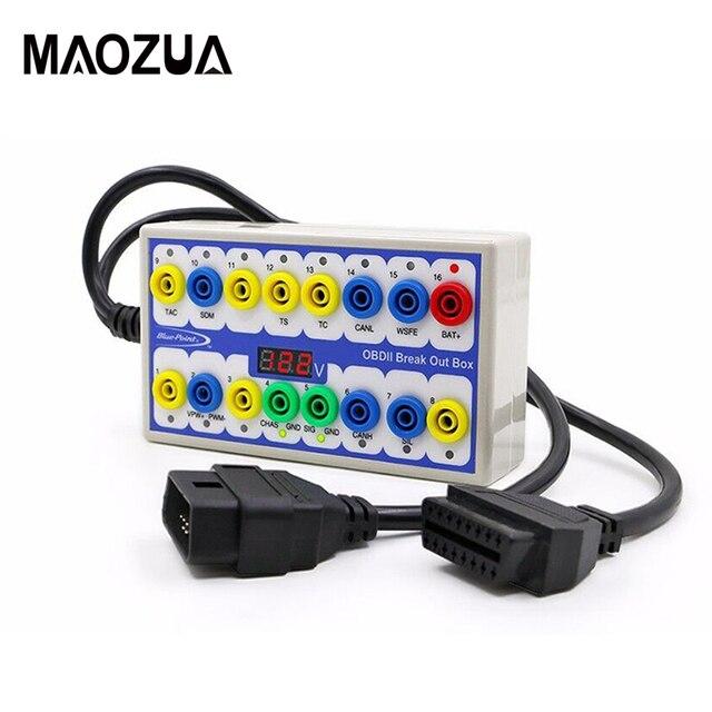 Maozua OBDII OBD2 Breakout Box Auto OBD 2 Break Out Box Auto Protokoll Detector Auto Können Test Box Automotive Stecker auto detektor