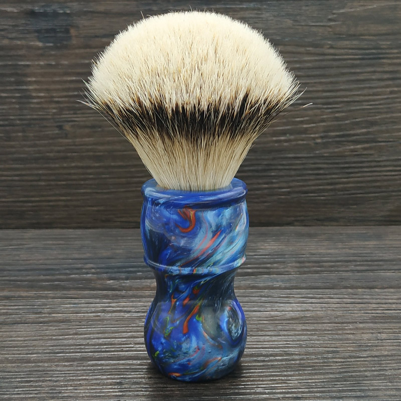 DS 24mm silvertip badger hair knot hand-crafted shaving brush Galaxy resin handle for men shaveDS 24mm silvertip badger hair knot hand-crafted shaving brush Galaxy resin handle for men shave