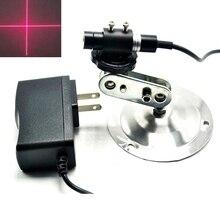 12X55mm 650nm 80mw Cross Red Laser Module Photogravure / Sewing Machine Positioning 5V ldtr 0014 5v 650nm laser emit module for arduino white golden