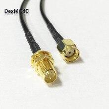 1PC WIFI router cable RP-SMA Female Jack nut To RP-SMA Male Plug RG174 30cm/50cm/100cm Wholesale Fast Ship