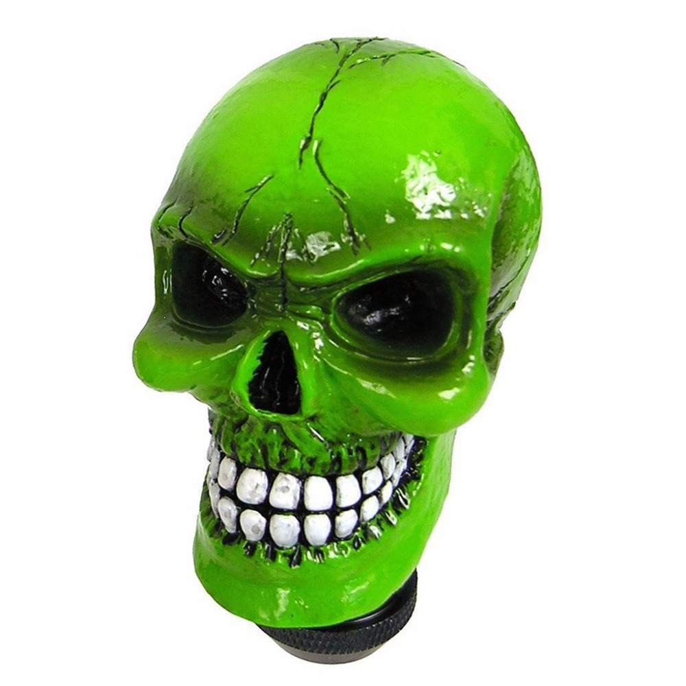 XYIVYG Black Gold Skull Cool Design Head Gear Shift Knob Universal Car  Truck Shifter Knob Manual Automatic Gear Shift Knob 6d3c6cf6a4dc
