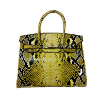New Europe Fashion Python Pattern Cow Leather 30 35CM Women Shoulder Bags Serpentine Genuine Leather Luxury