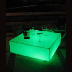Skybess SK-LF23 (L60 * W60 * H13cm) قابلة للشحن LED الأثاث طاولة بار PE المواد مربع الجدول للحزب شحن مجاني 2 قطعة/الوحدة