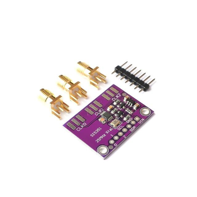 DC 3V-5V 5351 Si5351A Si5351 I2C Clock Generator Breakout Board Module Signal Generator Clock 8KHz-160MHz For Arduino