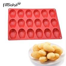 FILBAEK 18 Even Madeleine Shell Silicone Madeleine Cookie Mold 100% Platinum Silicone Shell Biscuits Cake Bakeware Tools жакет madeleine madeleine mp002xw1ior6