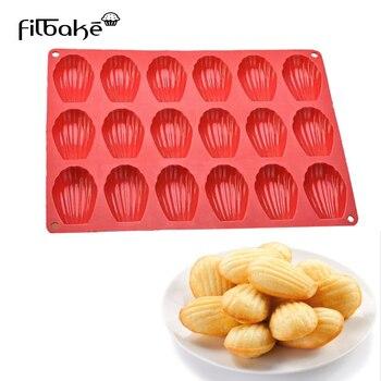 FILBAEK 18, incluso Madeleine Shell, molde para galletas, magdalenas, 100% de silicona de platino, utensilios para hornear galletas, pasteles