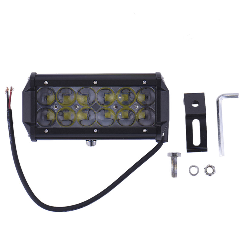 7 36W LED Work Light Lamp Light Bar Motorcycle Tractor Boat Off Road 4WD 4x4 Truck SUV ATV Driving Light Flood Spot Beam 10-30V promotion 120w led driving light 21inch led car ramp off road light driving lamp for truck suv boat 4x4 4wd atv tractor