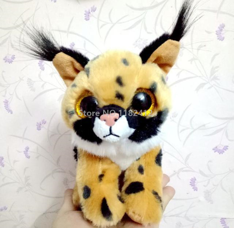 18cada5801f Ty Beanie Babies Larry Lynx Brown Cat Plush Toy 15cm 6   Cute Stuffed  Animal With Big Eyes Baby Kids Toys for Children Gifts-in Stuffed   Plush  Animals from ...