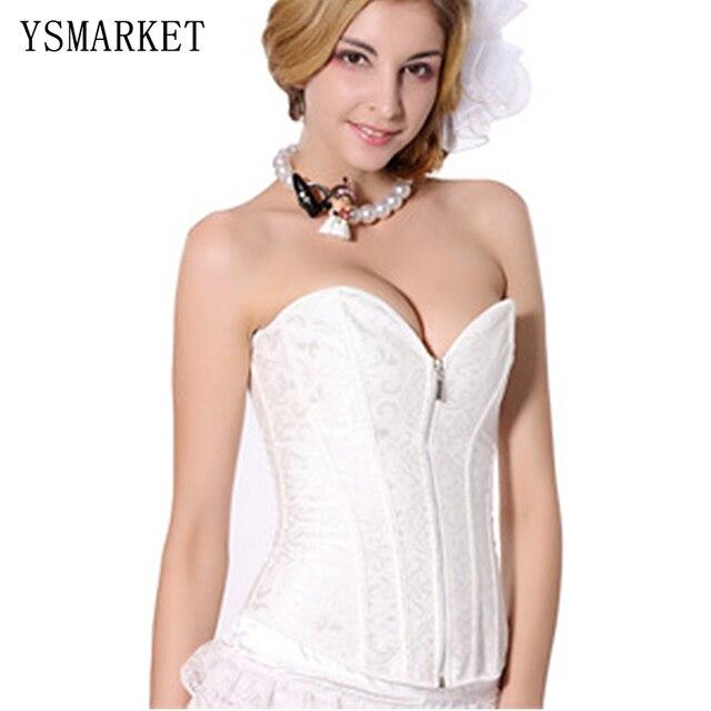 Новый 2017 Мода Sexy Современные Невесты Белый Корсет Шнурка женщин Талия Cincher Бюстье Лолита Стиль Slim Fit Sweet Корсетные S21224
