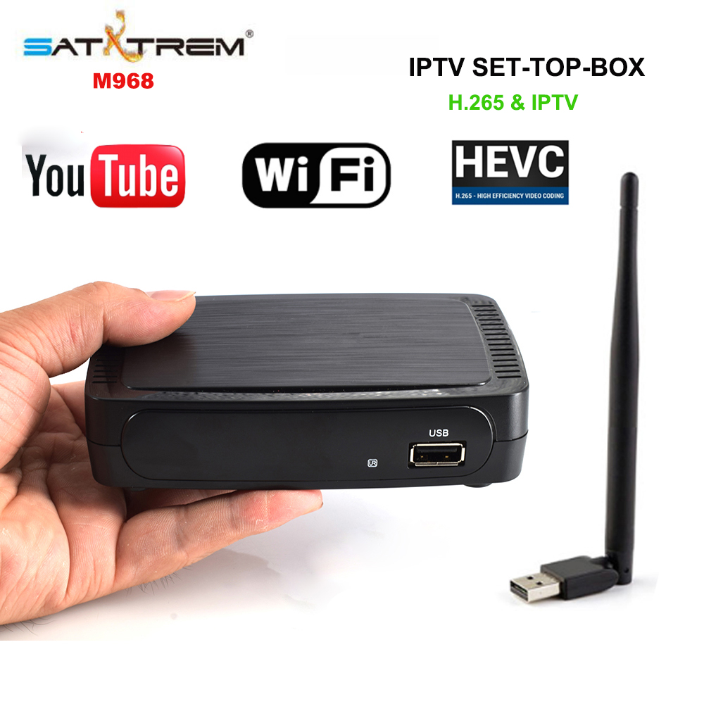 Satxtrem M968 IPTV Set Top Box 2GB DDR3 Mag Box Full HD 1080P H.265 HEVC Youtube Support USB WIFI pk Mag 250, Mag 254, Mag 256 ollin professional bionika интенсивная маска против выпадения волос intensive mask anti hair loss 450 мл