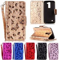 Fundas Flip Case For LG K8 Leather Case Silicon Wallet Cover For Coque LG K8 4G