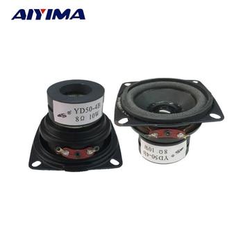 AIYIMA 2Pcs Mini Audio Portable Speakers 8 Ohm 10W Full Range Multimedia Speaker DIY For Home Theater Sound System