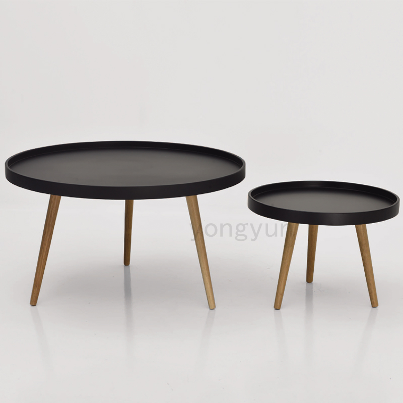 Fashion Tea Table Modern Design Solid Wooden Small Big High Low Side Table  Modern Living Room Sofa Corner Round Coffee Table In Coffee Tables From  Furniture ...