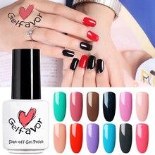 Gelfavor 7ml Nail Polish 58 Pure Colors Gel Polish Manicure Lacquer UV LED Soak Off Nail Art Nail Gel polish Glue Gel lak