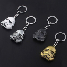 лучшая цена SG Star Wars Keychain White Soldiers Key chain Stormtrooper Black Warrior Darth Spaceship Falcon Pendant Car Keyring Men Jewelry