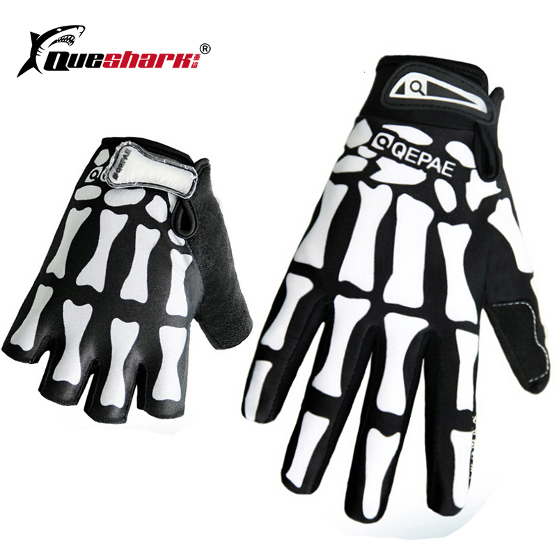 Screen Touch Skeleton Full-finger Gloves Outdoor Sports Cycling Anti-slip Gloves