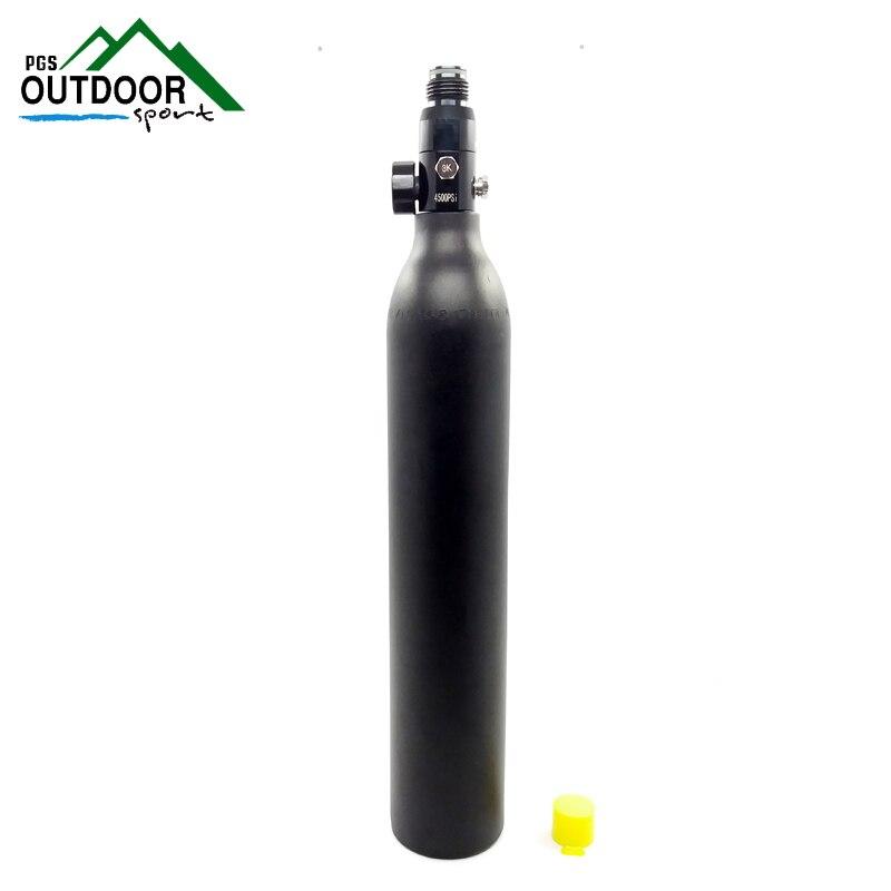 เพนท์บอลPCPถังCyclinder 4500psi/300bar/30mpa 0.5L HPAสูงอัดอากาศขวด5/8