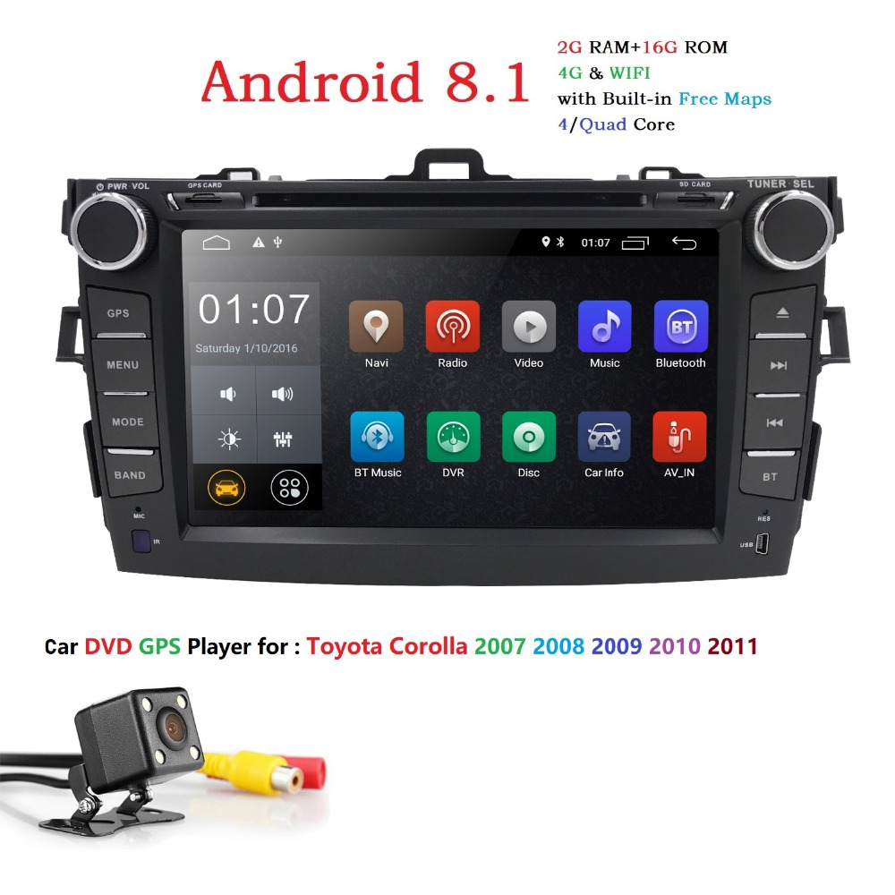For Toyota Corolla 2007-2011 Car DVD GPS Player 8
