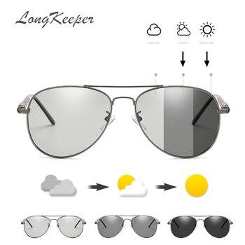 b3e907caf0 LongKeeper 2019 fotocromáticos gafas de sol para hombres, gafas de hombre  conducción piloto, gafas de sol para hombres UV400 AMZ209BS