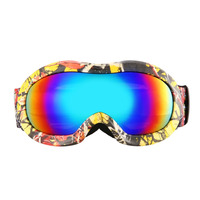 Children Double Professional Ski Goggles Double Layers UV400 Anti Fog Big Ski Mask Glasses Skiing Men