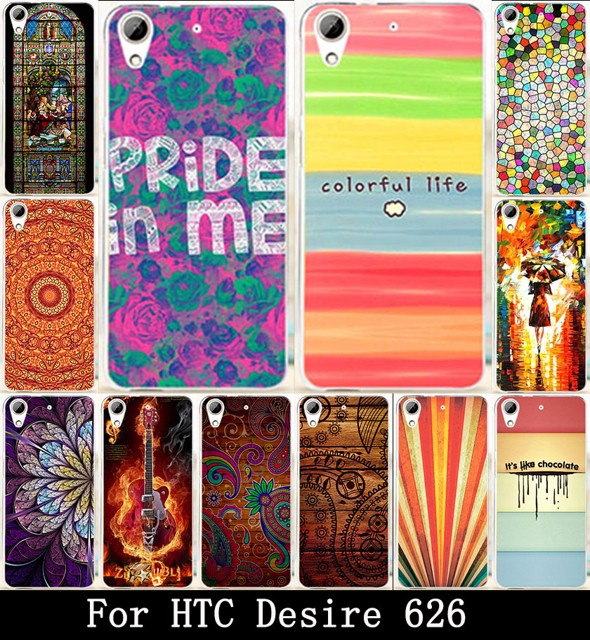 AKABEILA Chocolate Rain Girl Painted Cute Lovely Hard Covers Cases For HTC Desire 626 650 628 626w 626D 626G 626S Case Skin Hood