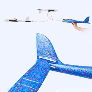 Image 2 - 48 سنتيمتر اليد رمي طائرة شراعية تحلق لعبة الرغوة 35 سنتيمتر طائرة كبيرة نموذج EPP الرياضة في الهواء الطلق الطائرات ألعاب ترفيهية للأطفال لعبة TY0321