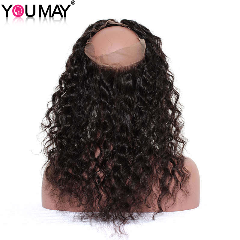 Prej këpucëve 360 Dantella Mbyllja frontale e flokëve - Flokët e njeriut (të zeza) - Foto 1