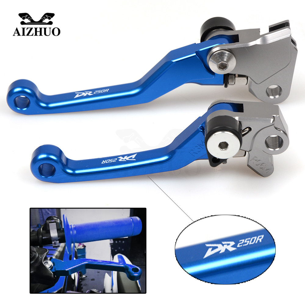 For SUZUKI DR250R <font><b>DR</b></font> <font><b>250</b></font> R <font><b>DR</b></font> 250R 1997 1998 1999-2000 CNC Motocross dirt bike Pivot Brake Clutch Levers With DR250R image