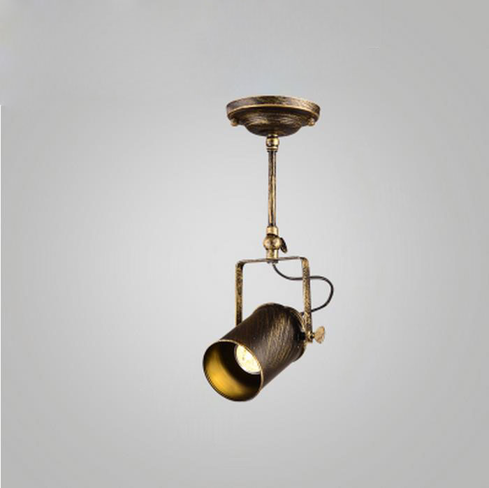 Loft Vintage LED Spotlight Wrought Iron Ceiling Lamps Clothing Bar Bronze  Industrial American Style Spot Lighting