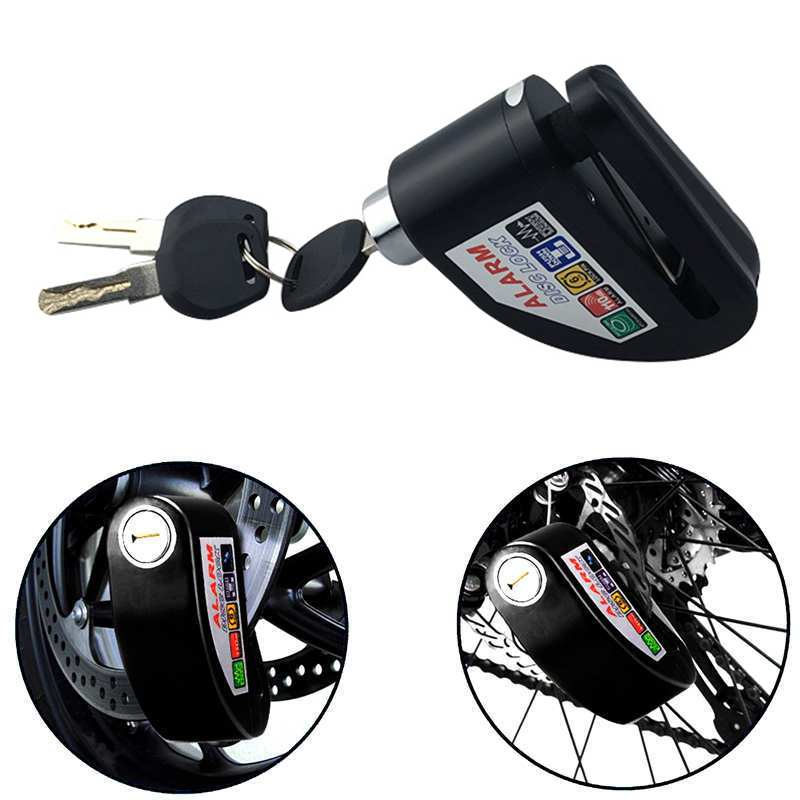 Motorcycle Lock Disc Brake 110dB Alarm Sound Durable Anti-theft For Bike Motorbike Car Styling