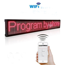 7.8x27inch Wifi LED Signs Programmable Message Board,LED Sign Screen Message Display