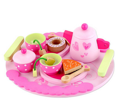 Classic Word Pink Children Kitchen Cooking  Afternoon Tea food Combination  Pretend Play Toy Set Educational Toys Birthday Gifts new colorful wooden vegetables combination kitchen toys for pretend play wood building blocks children educational kids toy gift