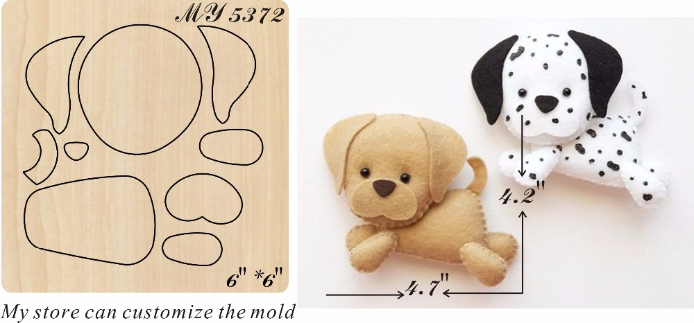 Cute dog 1 new wooden mould cutting dies for scrapbooking Thickness 15 8mm