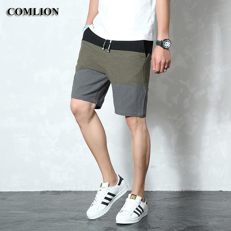 2019 New Shorts Men Outdoors Summer Casual Beach Shorts Cotton Elastic Waist Fashion Brand Boardshorts Plus Size Hot Sale C41