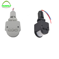 85 265V Outdoor Security PIR Human Body Motion Sensor Detector Inductor Switch For Led Floodlight Gray
