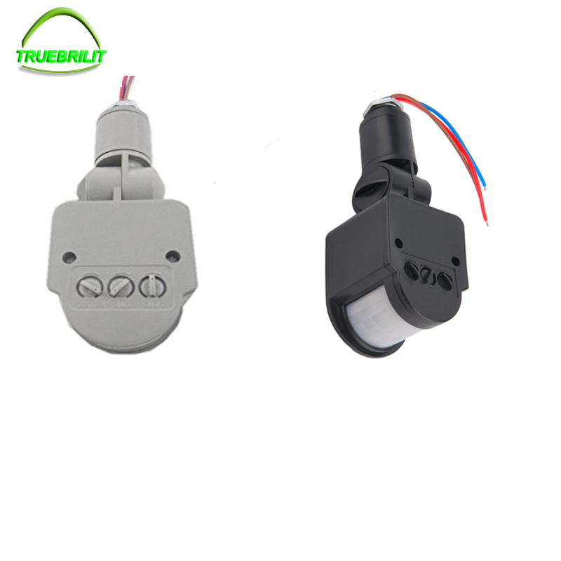 85-265V Outdoor Security PIR Human Body Motion Sensor Detector Inductor Switch for Led Floodlight --Gray /black