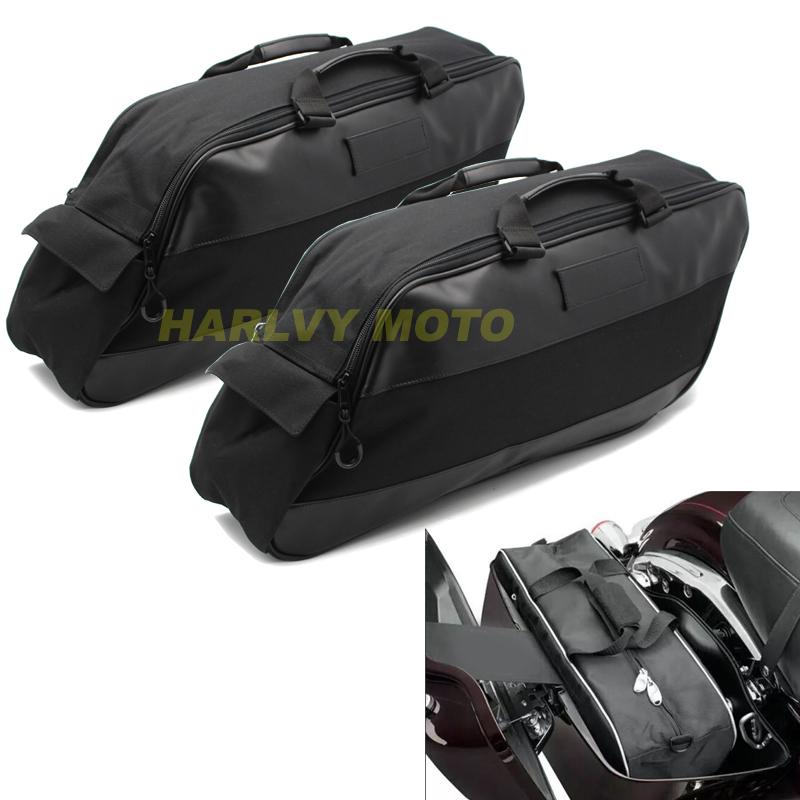 1 Pair Motorcycle Luggage Bag Saddlebag Motorbike Tour Pack Soft Liner Bag For Harley Touring 1996