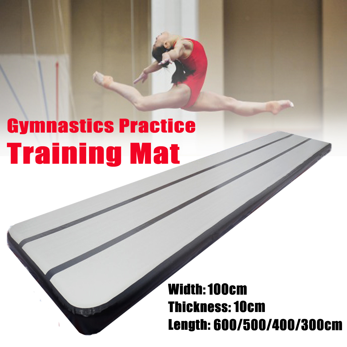 600/500/400x90x10 cm Gymnastique Pratique Formation Tapis Pad Gonflable GYM Air Tapis De Piste airtrack