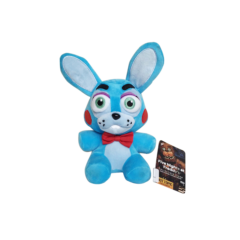 New 18cm FNAF Five Nights at Freddy 4 Nightmare Bonnie Rabbit Stuffed Plush Toys Soft Animals Toy Doll Gifts for Children Kids