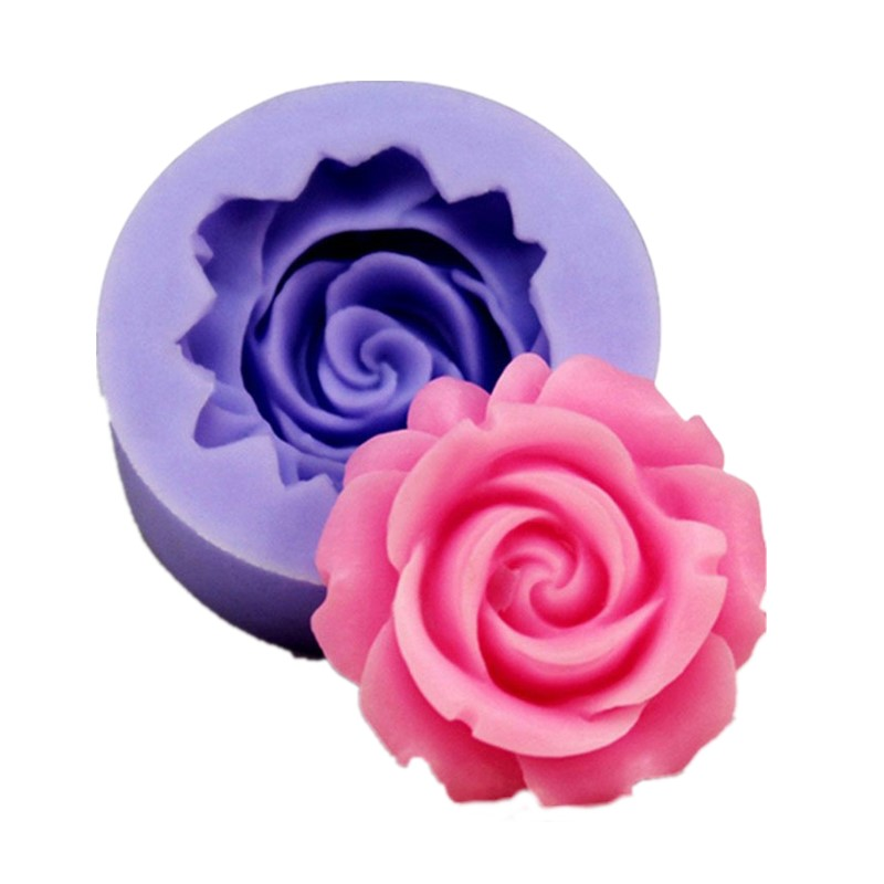 3D Rose Flower Shape Silicone Soap Mold Form Chocolate Cake Mold Handmade Diy Cake Fondant Decoration Soap Making Silicone Mold
