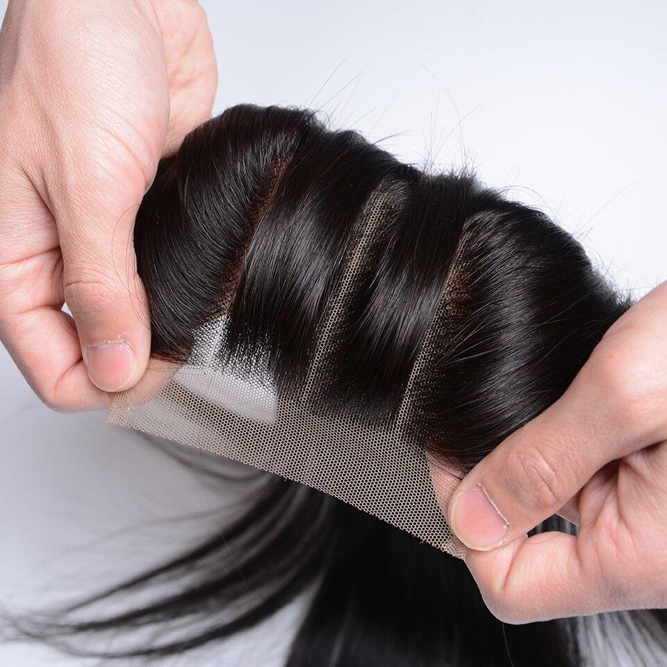 Joedir Hair Brazilian Straight 4x4 Snörning Med Babyhår Mänskligt - Skönhet och hälsa - Foto 3