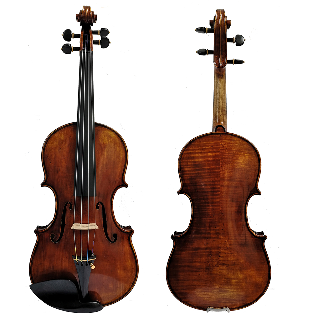 送料無料コピージュゼッペ Guarneri デル · ジェス II 1743 バイオリン油ワニス 100% ハンドメイドケース炭素繊維弓 FP900  グループ上の スポーツ & エンターテイメント からの バイオリン の中 2