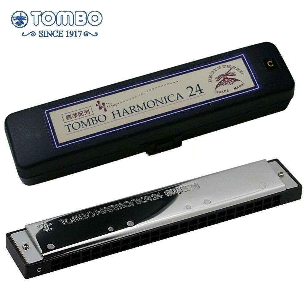 Tombo éducatif 3624 Harmonica 24 trous Standard tableau clé C Instruments de musique maternelle primaire école enfants débutant