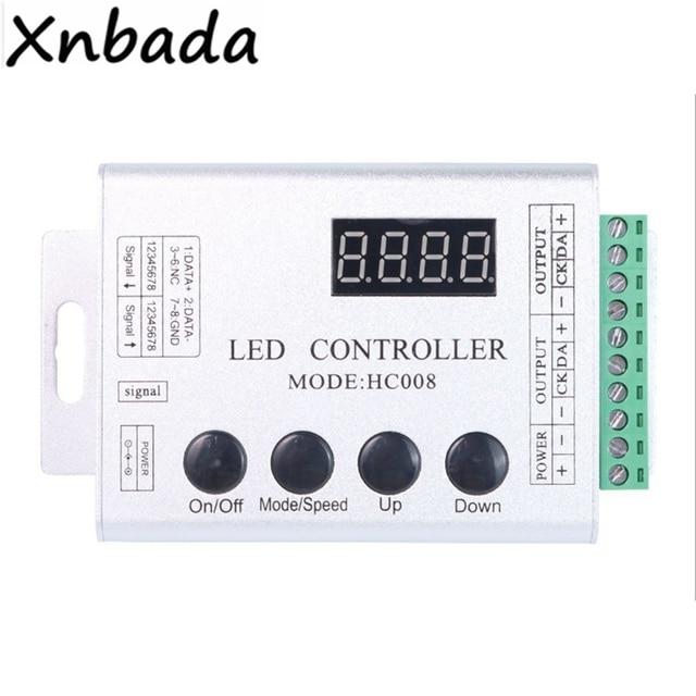 Controlador Led HC800 RGB 133 modos de efecto para WS2811 WS2812 WS2812B tira de luces Led cinta DC5-24V