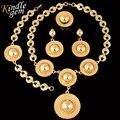 2017 Новый Нигерийские Свадебные Африканские Бусы Комплект Ювелирных Изделий В Дубае Позолоченные Украшения Костюма Ожерелье Наборы Мода Parure Бижутерии Femme